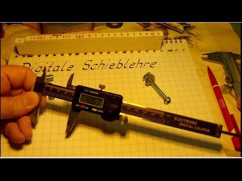 W_0128 Digitale Schieblehre =auch Messschieber =Grundlagen Messen =Bedienung usw.=