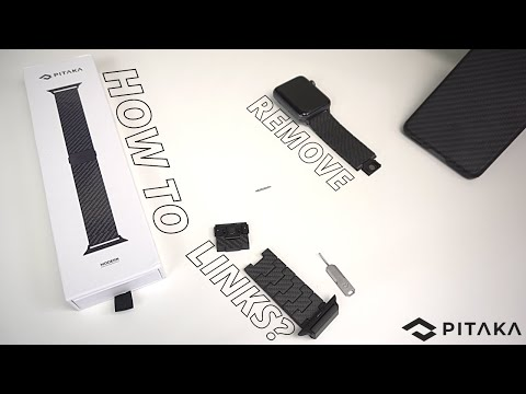 How To Remove Pitaka Carbon Fiber Apple Watch Band Links?