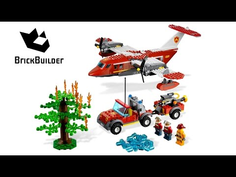 Vidéo LEGO City 4209 : L'avion des pompiers