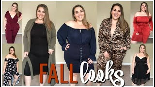 🍁 NEW Fall Looks From Fashion To Figure |Plus Size Dresses & Jumpsuits | Sarah Rae Vargas