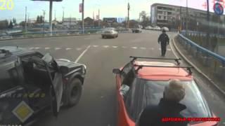 Быдло на дороге получает по заслугам Дорожные Происшествия