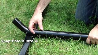 3-Beam Hammock Stand Assembly (no Tools) By Hammock Universe
