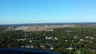 Gulfstream G3 landing at Islip airport (KISP) Long Island, runway 28