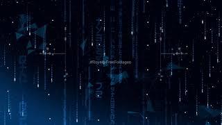 Blue matrix rain code effect | Matrix code Digit rain screensavers | Matrix rain fall wallpaper