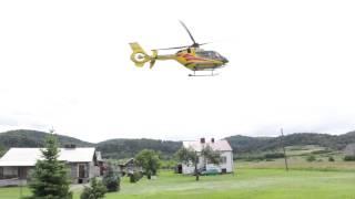 Głojsce - Ciągnik przygniótł mężczyznę, lądowanie LPG