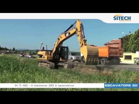 Sistema GPS 3D su Escavatore: ampliamento di sede stradale