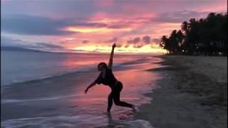 Carolina Brasil está num lugar paradisíaco A ilha é Maui e fica no Havaí