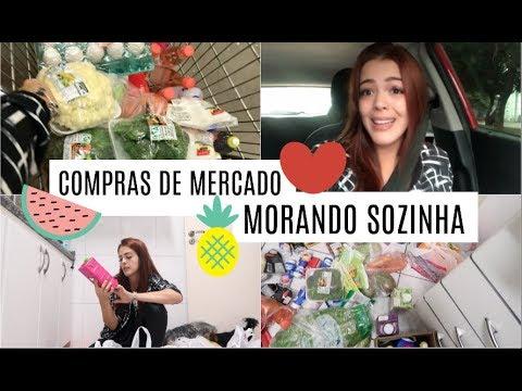 COMPRAS DE MERCADO PARA QUEM MORA SOZINHA #BIAVLOGANDO