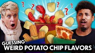 Guess That Weird Chip Flavor! (Lobster, Wasabi, Churro, Onion Soup)