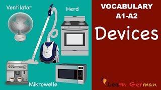 Learn German | German Vocabulary | Haushaltsgeräte | Household Appliances | Geräte | A1