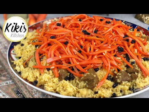 Traditionell Afghanischer Reis mit Karotten und Rosinen | Kabuli mit Lammfleisch | Qabli Palau #10