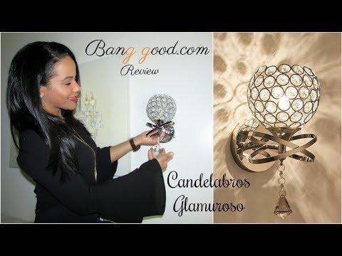 Banggood.com || CANDELABROS DE PARED GLAMUROSOS