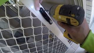 how to remove and install screen door lock