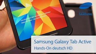 Samsung Galaxy Tab Active B2B Tablet Hands On deutsch HD