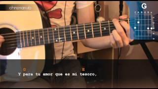 """Cómo tocar """"Para tu Amor"""" de Juanes en Guitarra Acústica (HD) Tutorial - Christianvib"""