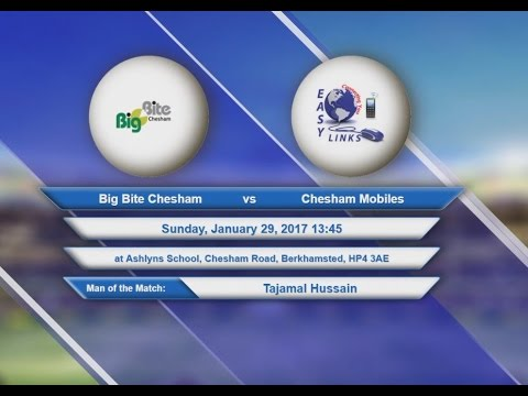 Video Big Bite Chesham VS Chesham Mobiles - 29-Jan-2017