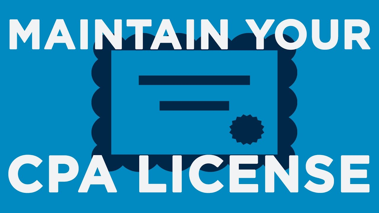 Maintain Your CPA License