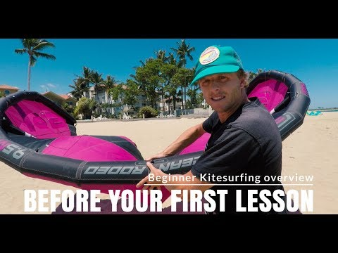Video to watch before your first kitesurfing lesson (Basic kitesurfing overview)