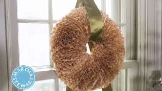 Craft A Holiday Wreath With Coffee Filters  ⎢Martha Stewart