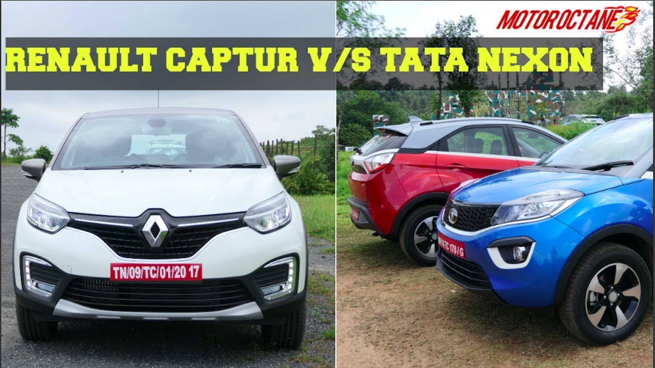 Motoroctane Youtube Video - Renault Captur vs Tata Nexon - ??????? ?????? vs ???? ?????? Comparison