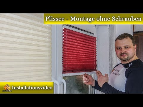 Plissee / Montage Klemmträger - Anleitung