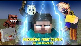 Monster School: Herobrine's Best Fighting Scenes Compilation by MechanicZ