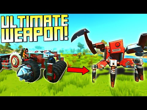 The Best Weapon to Defeat the Boss Bots?  - Scrap Mechanic Survival Mode [SMS 50]