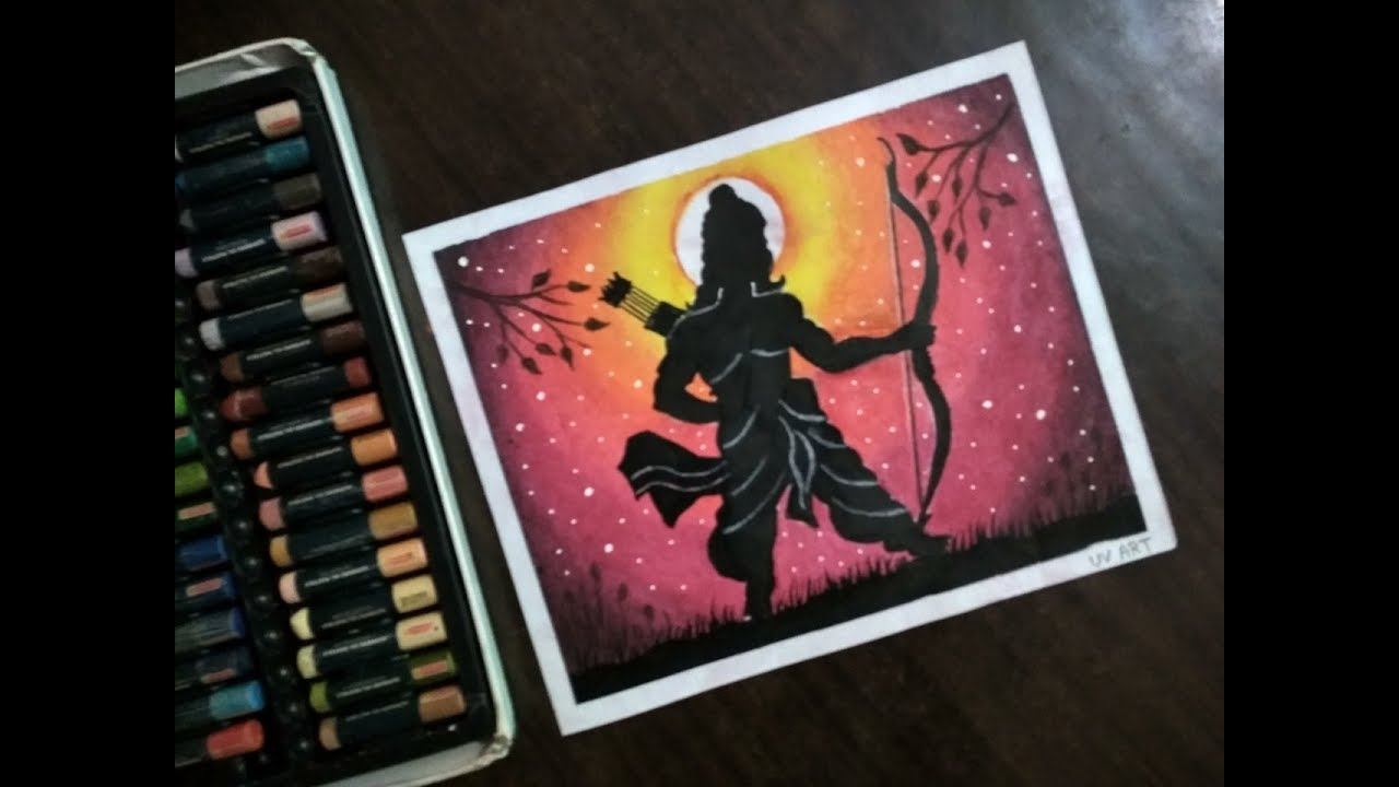 Download How to draw Lord Shree Ram Oil pastel Drawing ! Du