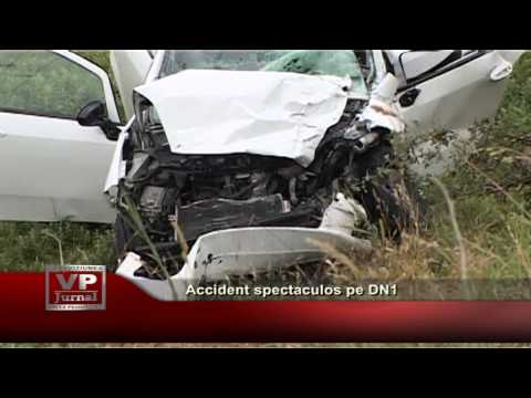 Accident spectaculos pe DN1