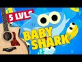 5 levels of Baby Shark. Fingerstyle Guitar Tabs