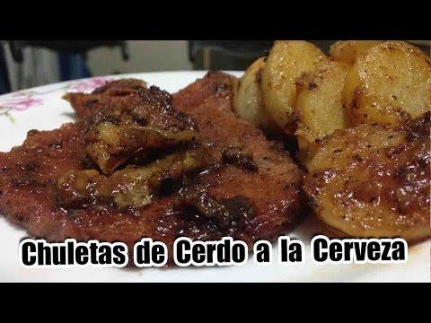 Chuletas de cerdo  a la cerveza - Video #12