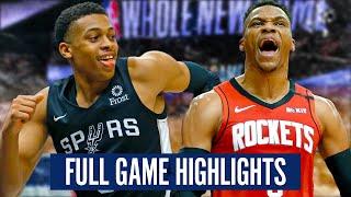 HOUSTON ROCKETS at SAN ANTONIO SPURS - FULL GAME HIGHLIGHTS | 2019-20 NBA Season
