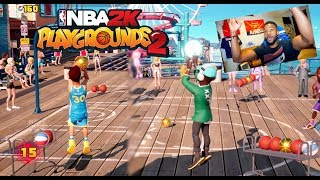 STEPH CURRY IS THE 3 POINT KING!! NBA 2K PLAYGROUND THREE POINT CONTEST!! - NBA PLAYGROUNDS 2