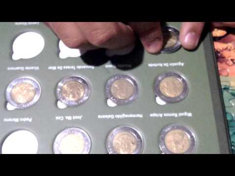 Álbum Coleccionador de Monedas Conmemorativas de $