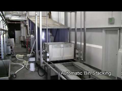 1/2 ton bin washing system
