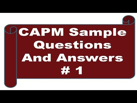 CAPM Sample Questions And Answers #1 - YouTube