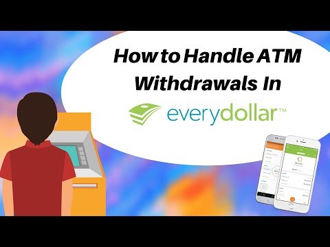 How to Handle ATM Withdrawals in EveryDollar