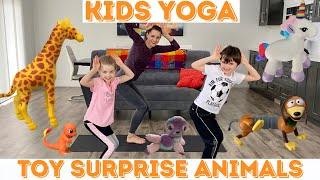 Kids Yoga - Toy Surprise Animal Yoga Poses (age 3-10)