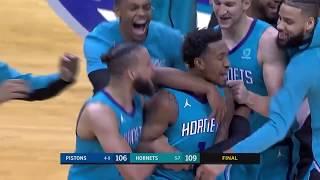 Malik Monk GAME-WINNER - Pistons vs Hornets   November 15, 2019   2019-20 NBA Season