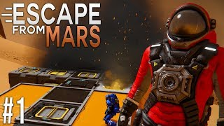 Space Engineers: ESCAPE from MARS! - Ep #1 - CRASH landing...