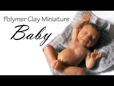 (Clay)Miniature Baby Tutorial - Polymer Clay Tutorial