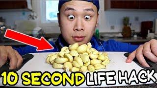 HOW TO PEEL GARLIC IN 10 SECONDS LIFE HACK!