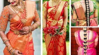 South Indian Bridal Blouse Neck Designs | Top 30 Bridal Blouse Design Collections For Silk Saree |