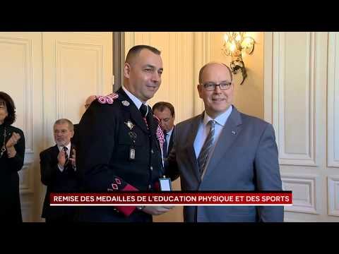 Presentation  of Medals for Physical Education and Sports by H.S.H. Prince Albert II