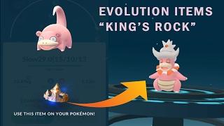 Slowking  - (Pokémon) - Pokemon Go Evolution Item King's Rock for Slowking  Generation 2
