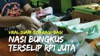 Viral Suami Istri Bagi Bagi Nasi Bungkus Terselip Uang Rp1 Juta, Lokasi di Pasuruan