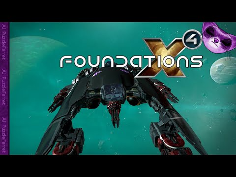 X4 Foundations Ep153 - Flying through Turquoise Sea!