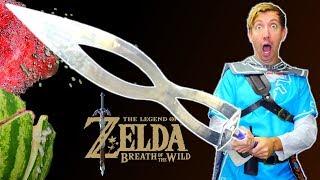5 ZELDA Weapons in REAL LIFE - Breath of the Wild vs Fruit Ninja (IRL)