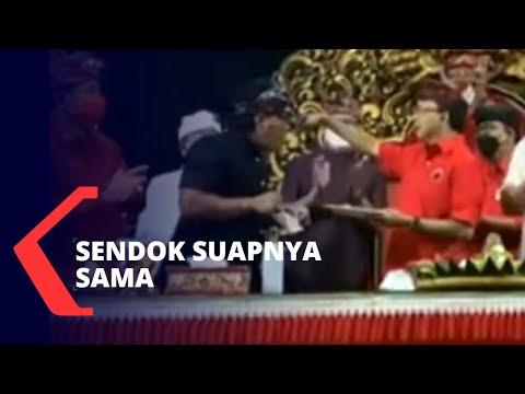 Viral Gubernur Bali Suap-suapan Tumpeng Pakai Satu Sendok Sama