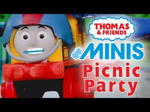 Hilarious Picnic Party with MINIS   Playing around with Thomas & Friends   Thomas & Friends